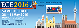 28-31 May 2016 – 18th European Congress of Endocrinology – Munich, Germany
